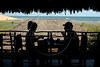 "Tourists enjoy breakfast at the ""Vila Kalango"" Hotel in Jericoacoara in Brazil's northeastern Ceara state.(Australfoto/Douglas Engle)"
