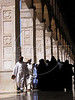 Worshippers enter the Umayyad Mosque for Friday prayer in the old city of Damascus, Syria. The mosque is one of the most important buildings of Islam, after mosques in Mecca and Medina in Saudia Arabia.(Australfoto/Douglas Engle)