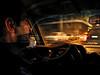 A taxi driver speeds though post-war Beirut, Lebanon.(Australfoto/Douglas Engle)