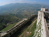 A view from a tower of the 12th century Krak des Chevaliers castle, situated on a mountaintop in the Homs Gap, the only and strategic break in the coastal mountain range between Turkey and Lebanon. In its almost 200 years under Christian Crusader knights, the formidable double-walled castle was never breached by attacking Arabs.(Australfoto/Douglas Engle)