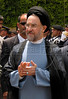 Mohammed Khatami, President of Iran, during an official visit to Beirut, Lebanon. Khatami's visit is the first Iranian Presidential visit to Lebanon since the 1979 Islamic Revolution in Iran, which supports Lebanon's Hezbollah in ideologically and economically.(Australfoto/Douglas Engle)