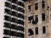 A semi-destroyed building stands next to a new building in Beirut, Lebanon. Scars from the 1975-1992 civil war still can be seen as the nation rebuilds.(Australfoto/Douglas Engle)