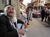 A man sits on a street corner in Baalbak, Lebanon.(Australfoto/Douglas Engle)