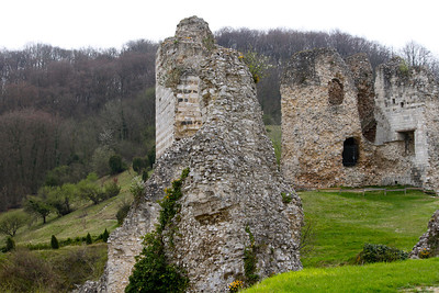 Photofreak. Les Andelys. Chateau Gaillard. King Richard the Lionheart. Normandy, France.