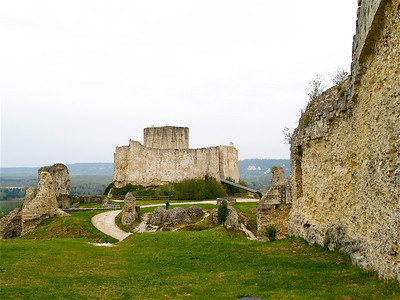 Photofreak. Les Andelys, Chateau Gaillard, King Richard the Lionheart. Normandy, France.