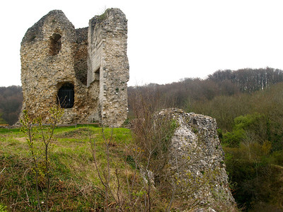 Photofreak. Les Andelys, Chateau Gaillard, King Richard the Lionheart, Normandy, France.