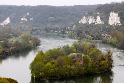 Photofreak. River Seine from Chateau Gaillard, Les Andelys, Normandy, France.