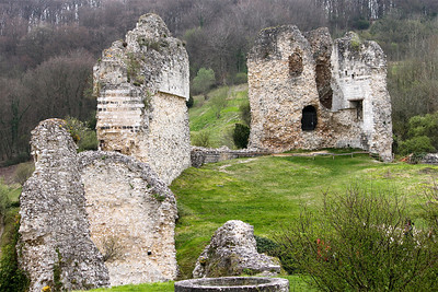 Photofreak. Les Andelys. Chateau Gaillard. King Richard the Lionheart. Normandy, France