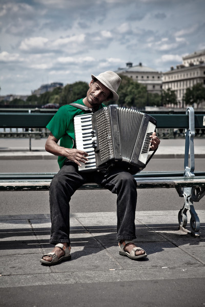 Postcards From Paris - Street Musician