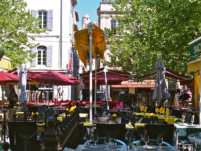 Street cafe, Arles, France.