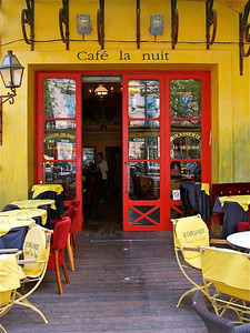 April 26, 2012. Cafe la nuit. Arles, France.