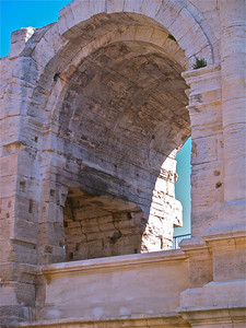 Le Theatre Antique.  Arles, France. Roman ruins.