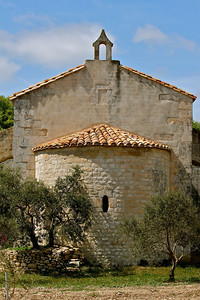 Moulin du Mas St. Jean, Chapel at Olive Farm near Arles, France.
