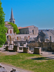 "Part of ""Les Arenes"". Arles, France."