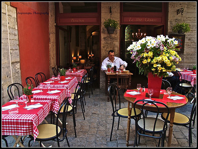 July 7, 2011. Street bistro. Lyon, France.