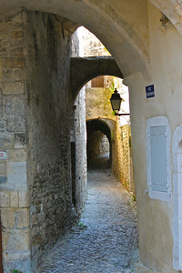 May 11, 2011.  Intriguing narrow street. Viviers, France.
