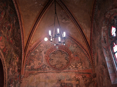 Church vaulted ceiling. Tournon, France