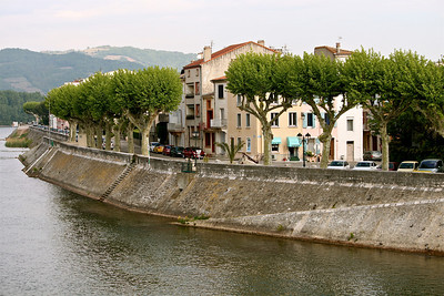 A boulevard by the Rhone. Tain l'Hermitage, France.