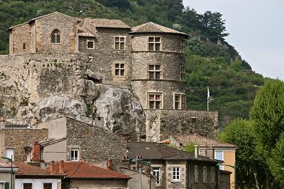 Tournon feudal castle dating back to the 10th century. Tournon, france.
