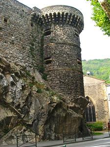 Feudal castle of Tournon, France.