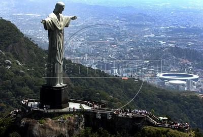 A view of the Christ the Redeemer statue in Rio de Janeiro, Brazil. (Australfoto/Angelo Antonio Duarte)