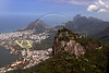 A view of the Christ the Redeemer statue, Gavea and Leblon neighborhoods in Rio de Janeiro, Brazil. (Australfoto/Angelo Antonio Duarte)