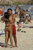 A young couple on Ipanema beach of Rio de Janeiro, April 16, 2005. (AustralFoto/Douglas Engle)