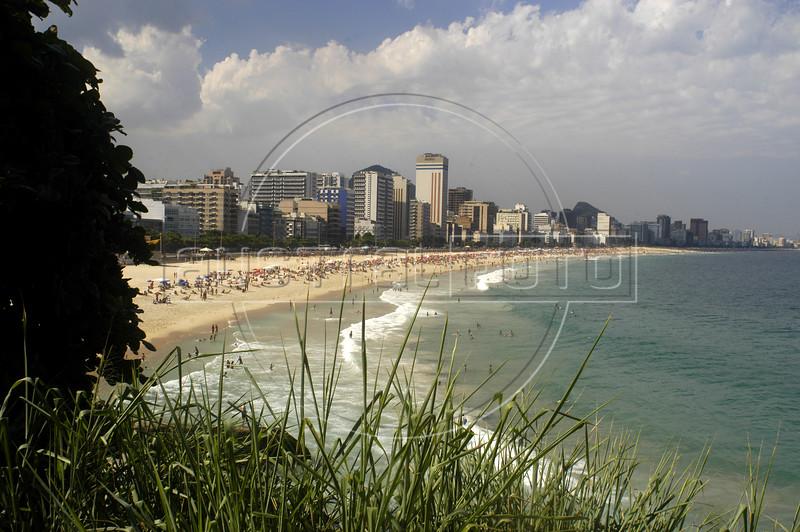 A view of Leblon beach of Rio de Janeiro. (AustralFoto/Douglas Engle)