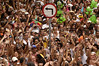 Revelers party in during one of many street parades around carnival time in Rio de Janeiro, Brazil, Feb. 21, 2004.(AustralFoto/Douglas Engle)