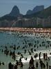 Leme and Copacabana Beaches in  Rio de Janeiro.(Australfoto/Douglas Engle)
