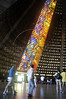 Churchgoers enter the modernist-style Metropolitan Cathedral in Rio de Janeiro, Saturday, April 2, 2005. Brazil is one of the largest Catholic nations of the world, with about 70 percent of the population who declares themselves Catholic.(AustralFoto/Douglas Engle)