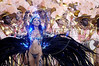 "Fabia Borges parades with the Unidos da Tijuca Samba School, in the sambadrome during the ""Special Group"" carnival parade in Rio de Janeiro, Feb. 7, 2005(AustralFoto/Douglas Engle)"