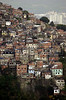 A favela, or slum, clings to a hillside in Rio de Janeiro.(AustralFoto/Douglas Engle)