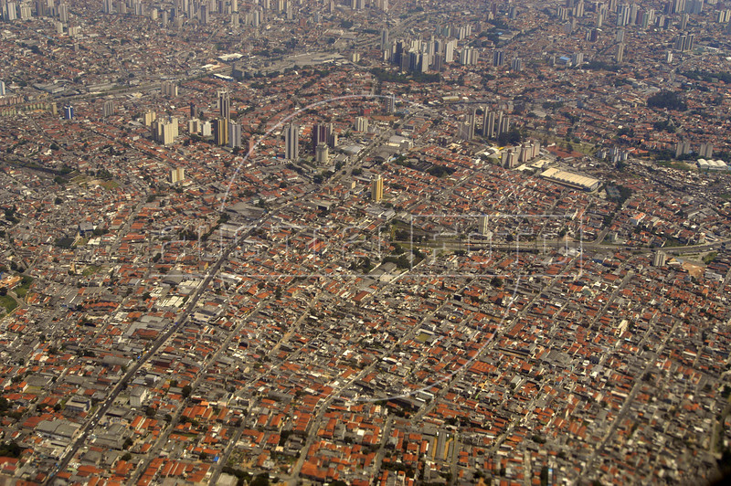 Aerial view of Sao Paulo, the largest city in South America, Nov. 23, 2004. (Australfoto/Douglas Engle)
