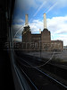 A view of the landmark Battersea Power Station from a train in London, United Kingdom. The defunct coal-fired power station appeared in The Beatles' 1965 movie Help! and on the cover of Pink Floyd's 1977 album Animals.(Australfoto/Douglas Engle)