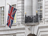 """The British flag, known as the """"Union Jack""""  on a shop on Regent Street in London, United Kingdom.(Australfoto/Douglas Engle)"""