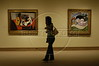 A visitor looks at a Picasso at the Metropolitan Museum of Art in Manhattan, New York City. Approximately two million works of art are in the two million square foot (185806.08 square meter) museum, founded in 1870. (Australfoto/Douglas Engle)