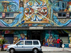A mural on the wall of the Arriba Juntos social center in the Mission district of San Franciso.<br /> The neighborhood is the center of Chicano and Latino community and a neighborhood of artists and hipsters. It is also famous for its murals. (Australfoto/Douglas Engle)