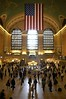 Commuters and visitors walk through the Grand Central railroad terminal in Manhattan, New York City. More visitors flock to Grand Central Terminal each year than to any other landmark in New York.  About 500,000 people arrive at the terminal every day.(Australfoto/Douglas Engle)