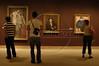 Visitors look at art in the Metropolitan Museum of Art in Manhattan, New York City. Approximately two million works of art are in the two million square foot (185806.08 square meter) museum, founded in 1870.(Australfoto/Douglas Engle)