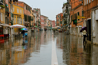 Venice, Italy. Rainy morning.