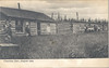 Postcard of Charlton, Ontario dated August 1904 showing cabins. Card mailed from Gowganda (first day cover) 1909 March 29.