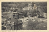 Postcard:  Belleville aerial view showing Post Office, corner of Armouries, Hotel Quinte, Bridge Street United and St. Thomas Anglican churches. Postmakred 1947 Jul 5 11 pm with short message.