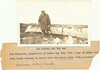 Postcard: The Hunter and the Bag. Jim Kingston, proprietor of James Bay Inn, with a bag of ducks and ... Ship Sands Island, 15 miles down the Moose River from Moosonee. Postcard with typed caption attached.