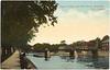 Postcard unused: Upper Bridge and Mill Street, Belleville Ontario. Looking north