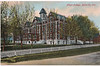 Postcard: Belleville, Ontario - Albert College from College Street not mailed