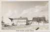 Postcard: Moose Factory, Hudson Bay Company Store, Staff House and Factor's Residence, view of buildings from South, mailed from Moosonee 1954 August 2nd