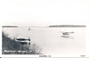 Post card Moose River - Autumn - two floatplanes on the water, boat visible, Butler Island in background, card 41 by Wilderness Pictures no date