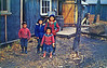 "Postcard"" Cree Indian Children at Moosonee, on James Bay, Northern terminus of the Ontario Northland Railway which links all communities north of North Bay.""<br /> Scanned from postcard 2008 November 8th"