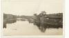 Photograph: Belleville Ontario. Looking up the Moira River from Bridge Street towards old footbridge.